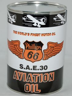 Phillips 66 Aviation Oil Can. $10.00 Shop now at www.gaspumpheaven.com! #collectible #memorabilia