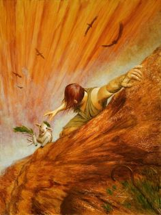 """Lost Sheep (Painting by Douglas Ramsey) """"I am the good shepherd. The good shepherd lays down his life for the sheep."""" John10:11"""
