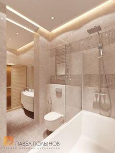 Фото: Ванная комната - Интерьер двухкомнатной квартиры в ЖК «Классика», 75 кв.м.