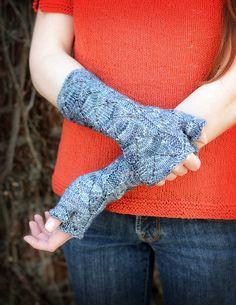 Ravelry: Adumbrate pattern by Hunter Hammersen Knitting Yarn, Knitting Patterns, Fingerless Mitts, Dk Weight Yarn, Stockinette, Arm Warmers, Fiber Art, Ravelry, Headbands