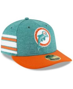 Miami Dolphins On Field Low Profile Sideline Home 59FIFTY FITTED Cap 68c39a2a4