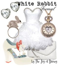Formal outfit inspired by the White Rabbit from Alice in Wonderland!
