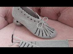 Knitting Basics, Easy Knitting Patterns, Sewing Stitches, Knitting Videos, Crochet Patterns, Easy Crochet Slippers, Knit Slippers Free Pattern, Crochet Bra, Crochet Shoes