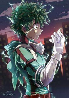 My Hero Academia // BNHA // Izuku Midoriya (Deku) // This art is really good and by a SpukyCat! Pls show your support dang it! My Hero Academia Episodes, My Hero Academia Memes, Hero Academia Characters, My Hero Academia Manga, Manga Anime, Fanarts Anime, Anime Art, Sad Anime, Deku Hero Academia
