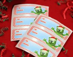 Gummibär (The Gummy Bear) Christmas Gift Tags are the perfect gift tags for the holiday season! Each set comes with 12 gift tags. Shops, Etsy Shop, Gummy Bears, Christmas Gift Tags, My King, Tableware, Handmade Gifts, Sweet, Kid Craft Gifts