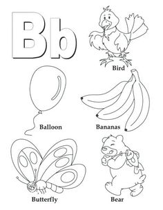 Printable Alphabet Coloring Pages Collection. Well, what do you think about alphabet coloring pages? Before recognizing it more, let's check what alphabet is! Letter B Crafts, Letter B Activities, Letter B Worksheets, Preschool Letters, Preschool Printables, Learning Letters, Preschool Worksheets, Coloring Worksheets, Printable Coloring