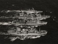 RFA Stromness, HMS Fearless, RFA Tidespring & HMS Achilles