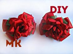 Цветы из лент канзаши \\ Flowers of the tapes kanzashi \\ мастер класс \\ DIY - YouTube