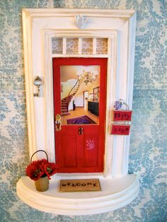 Fairy door cute idea in a little girls room make it a for Tooth fairy door
