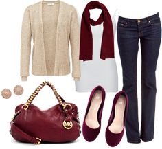 """""""Bordeaux & Gold"""" by dottcaldwell on Polyvore"""