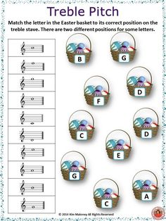 Easter Themed Music Worksheets ♫ 26 music worksheets