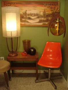 MCM Herman Miller Poppy Red Chair $$$OLD$$$, Miscellaneous Lighting, Duncan Miller Swan and Murano Glass @ Mod Makes It! 303-990-5893 - ***Lighting $old***