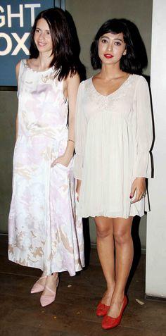 Kalki Koechlin with Sayani Gupta at the screening of 'Margarita With A Straw'.