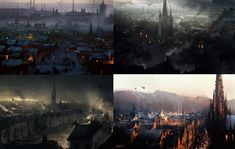 Couple of sketches showing how I proceed to paint some 18th century cities, coming up with different angles, colors and mood  Follow me  for more! : https://www.facebook.com/darek.zabrocki91  https://instagram.com/darekzabrocki