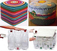 MENTŐÖTLET - kreáció, újrahasznosítás: PET palackból: puff