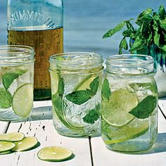 Mason Jar Drinks  | Basil Tonics | MyRecipes.com