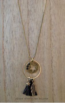 Sautoir LEANE Tassel Jewelry, Metal Jewelry, Beaded Jewelry, Jewelery, Jewelry Necklaces, Handmade Jewelry, Bracelet Crafts, Jewelry Crafts, Photo Jewelry