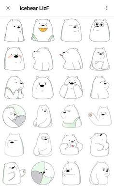 Cute Easy Drawings, Mini Drawings, Kawaii Doodles, Cute Doodles, Creative Instagram Stories, Instagram Story Ideas, Bear Wallpaper, Cartoon Wallpaper, Instagram Emoji