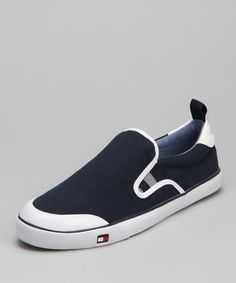 Take a look at this Marine & White Carlin Slip-on Sneaker by Tommy Hilfiger on #zulily today!