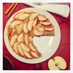 Tarta de Manzana saludable, sin gluten, sin leche, sin azúcares refinados y sin aditivos... www.mariaskitchen.es para la receta!!,