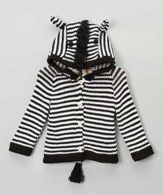 Black & White Zebra Sweater by Toto Knits on #zulilyUK today!