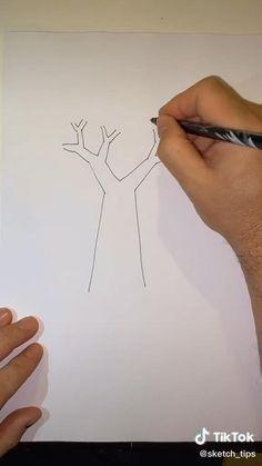 Cute Easy Drawings, Art Drawings Beautiful, Art Drawings For Kids, Art Drawings Sketches Simple, Pencil Art Drawings, Hand Art Kids, Diy Canvas Art, Drawing Techniques, Crayon Art
