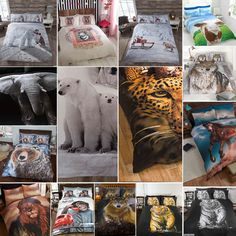 Animal photographic #print #duvet quilt cover #bedding set & pillowcases,  View more on the LINK: http://www.zeppy.io/product/gb/2/311038290098/