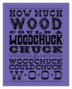 if a woodchuck could chuch wood
