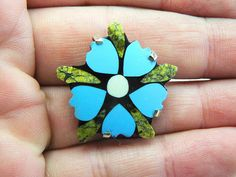 Turquoise Flower Ring Floral Ring Turquoise Jewelry Сarved
