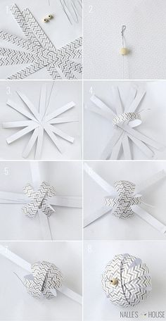 Instructions for DIY Paper Ball Ornaments | handmade ornament no. 11 - bystephanielynn