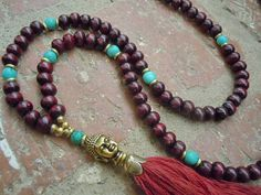 Yoga Necklace / Tassel Necklace / Buddha Necklace / by Syrena56