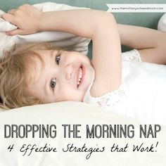 GREAT tips for dropping the morning nap easy-peasy!