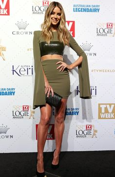 Jennifer Hawkins at the 58th annual TV Week Logie Awards. Picture: Julie Kiriacoudis