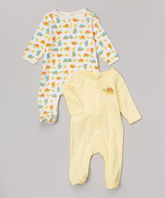 Loving this Neutral Turtle Footie Set - Infant on #zulily! #zulilyfinds
