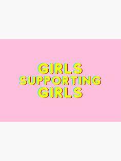 """Girls supporting girls feminism"" Mask by Michaela-S | Redbubble Canvas Prints, Art Prints, Feminism, Chiffon Tops, Classic T Shirts, Girls, Shop, Art Impressions, Toddler Girls"