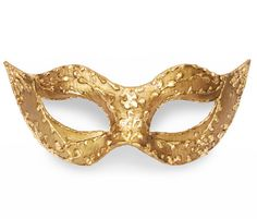 Baroque Gold Masquerade Mask In Antique Look  Metallic by SOFFITTA