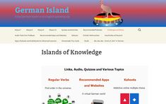 German Island by Roslyn Green is a website style blog to help high school students learn German.