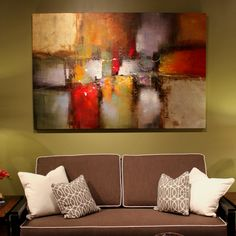 Painting from Artisto Fine Art at Las Vegas Design Center. Abstract Oil, Bird Houses, Ribbons, Las Vegas, Fine Art, Canvas, Twitter, Artwork, Painting
