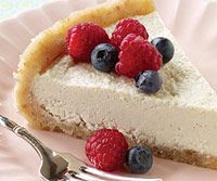 Raw Cashew Cheesecake. I had a cashew cheesecake dessert in a cafe today and it was very good; I hope this is, too!