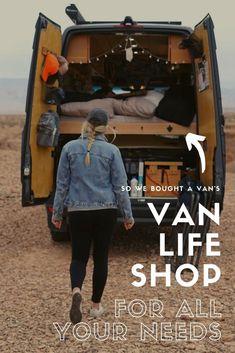 The Ultimate Van Life Shop, Diy Van Conversions, Conversion Van, Van Conversion Checklist, Life Hacks, Life Tips, Camper Van Life, Caravans For Sale, Sprinter Camper, Cool Vans