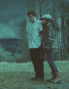 Just stay calm and get behind me and put your hair down - Edward