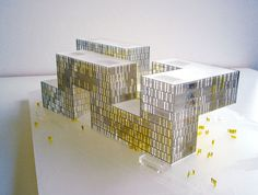 10 Must-See Yellow-Colored Architecture- Cite Des Affaires in Saint-Etienne Model Architecture Design, Office Building Architecture, Chinese Architecture, Facade Design, Concept Architecture, Office Buildings, Casas Containers, Hospital Design, Arch Model