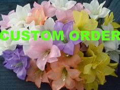 CUSTOM ORDER Lily Flower Pens Set of by GiftCreation, $75.00