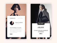 Fashion screens of an app that may go live.  Instagram
