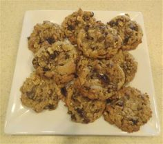 healthy chocolate chip,flax seed cookies