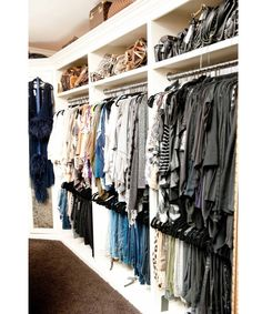 """See where Khloe Kardashian, Cindy Crawford and Jessica Alba store their wardrobes, courtesy of """"The Coveteur."""" Pictured here: Khloe Kardashian's clothes and bags."""