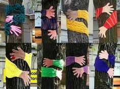 Image result for yarn bombing chairs pics