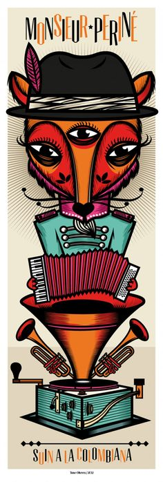 Ilustration for Monsieur Perine Band - Valentines Day Music Drawings, Mexican Designs, Rock Songs, Retro Illustration, Music Tattoos, Black Books, Love Art, Music Artists, Vintage Art