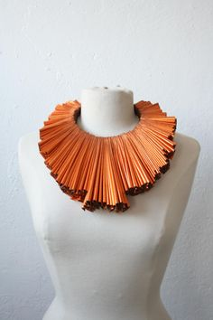 Necklace | Mia Morikawa  ~ Kapow Wow Designs.   Recycled pleated faux-leather