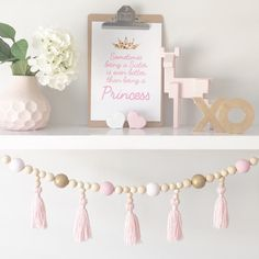 Bead Tassel Garland by 3CraftyBears on Etsy